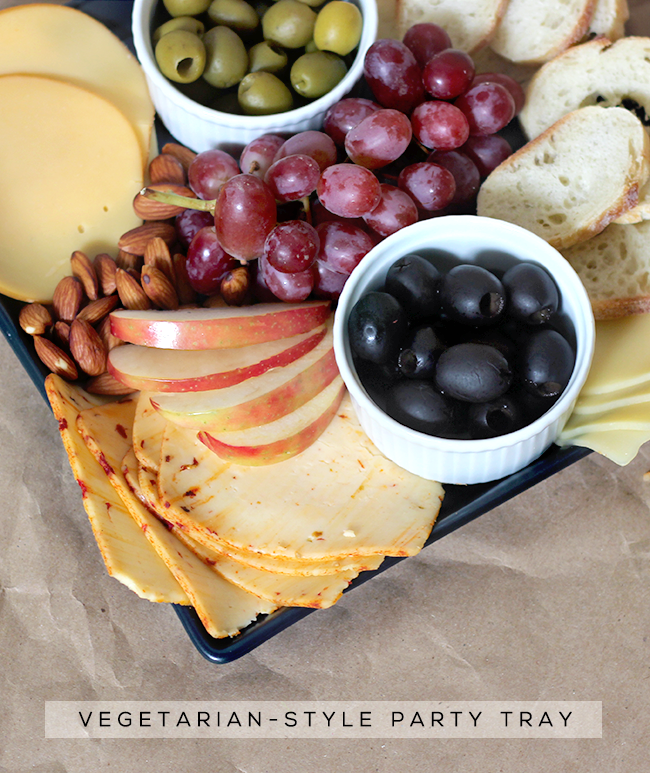 Fancy Vegetarian-Style Cheese Tray // Bubby and Bean