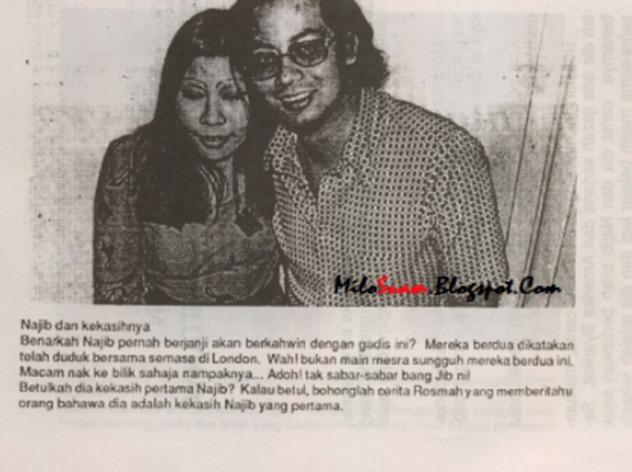 Wajah Kekasih Pertama Najib Razak Tersebar