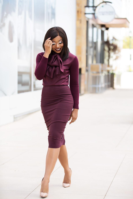 Fall work style, pencil skirt, www.jadore-fashion.com