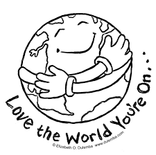 earth day colouring images for kids 2016