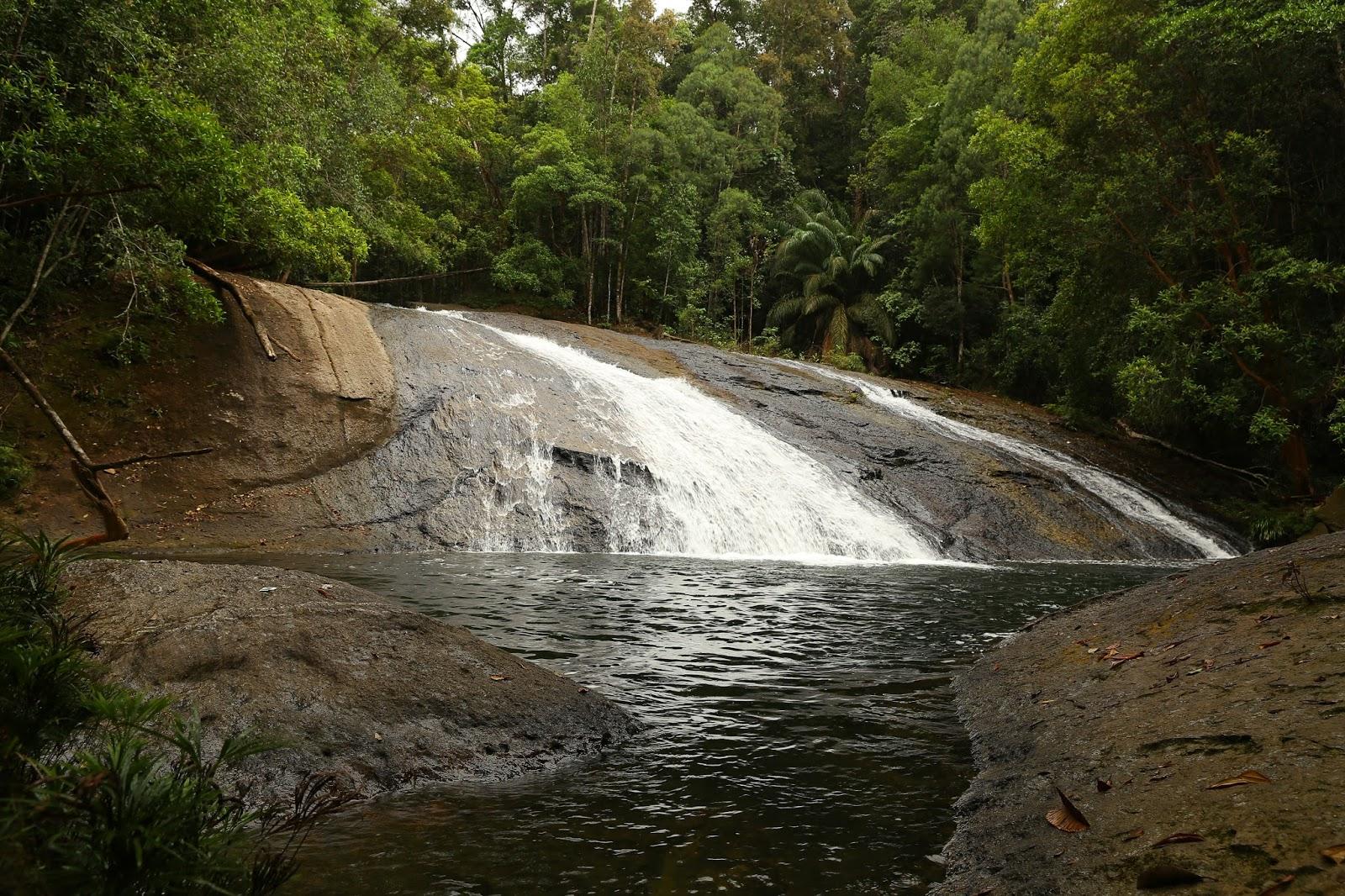 Flores Borneo Pesona Air Terjun Tembalang Di Kampung Tepian Buah Segah Berau Kaltim