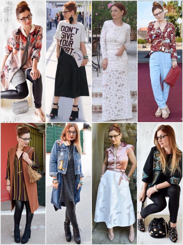 die Edelfabrik, eine Frau viele unterschiedlich Outfits