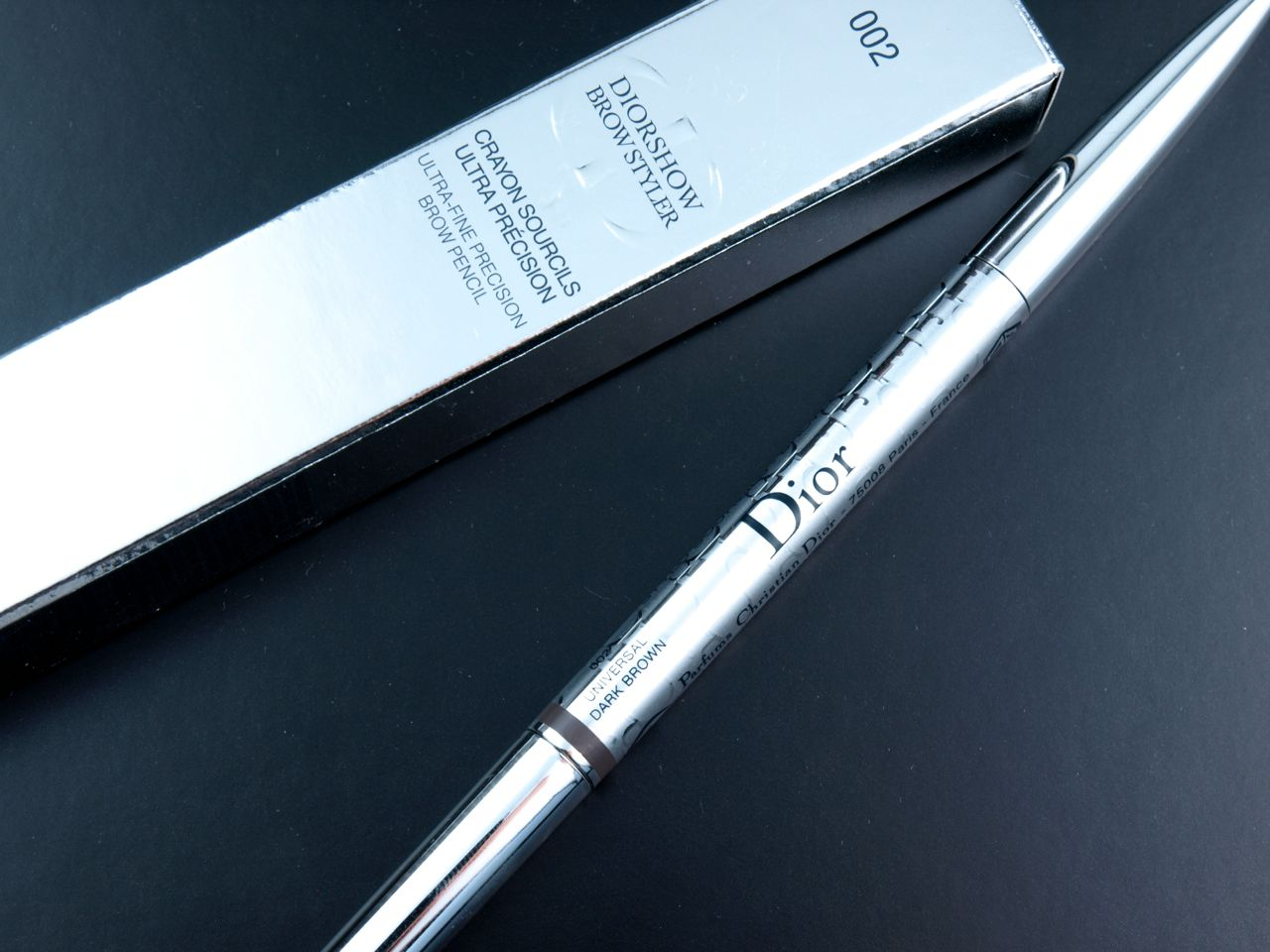 "Dior Diorshow Brow Styler Ultra-Fine Precision Brow Pencil in ""002 Universal Dark Brown"": Review and Swatches"