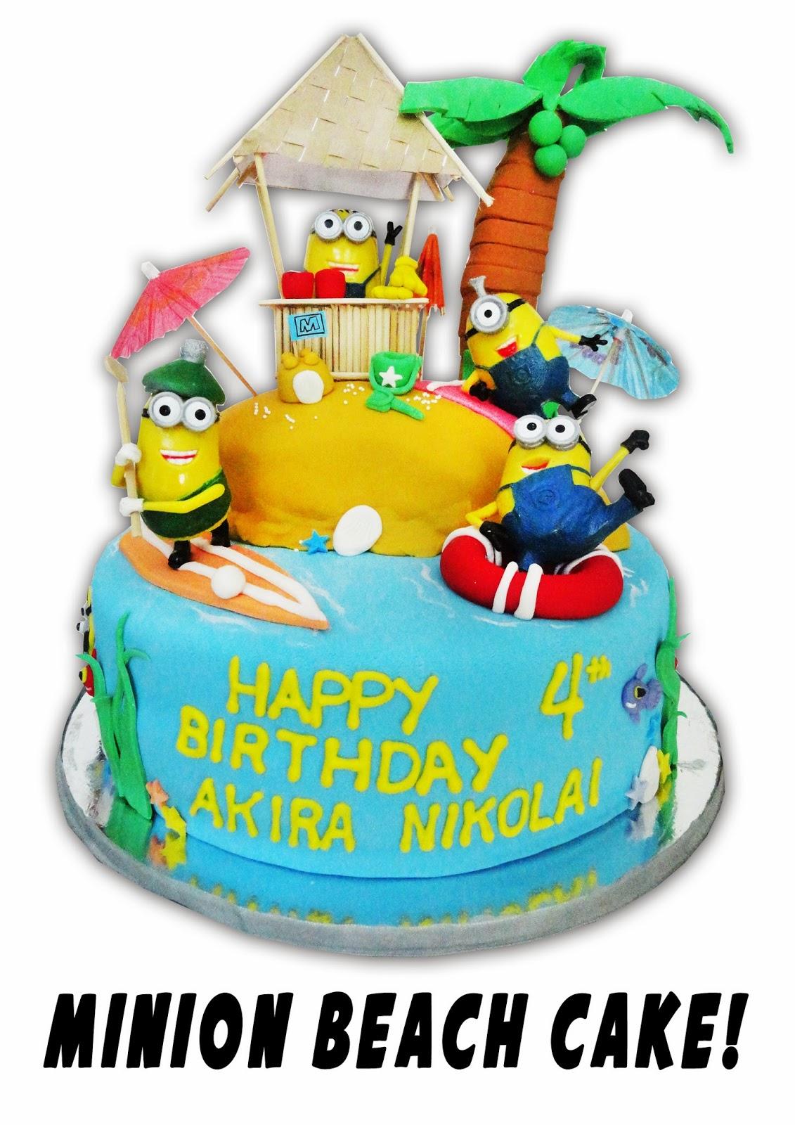 Minion Beach Cake