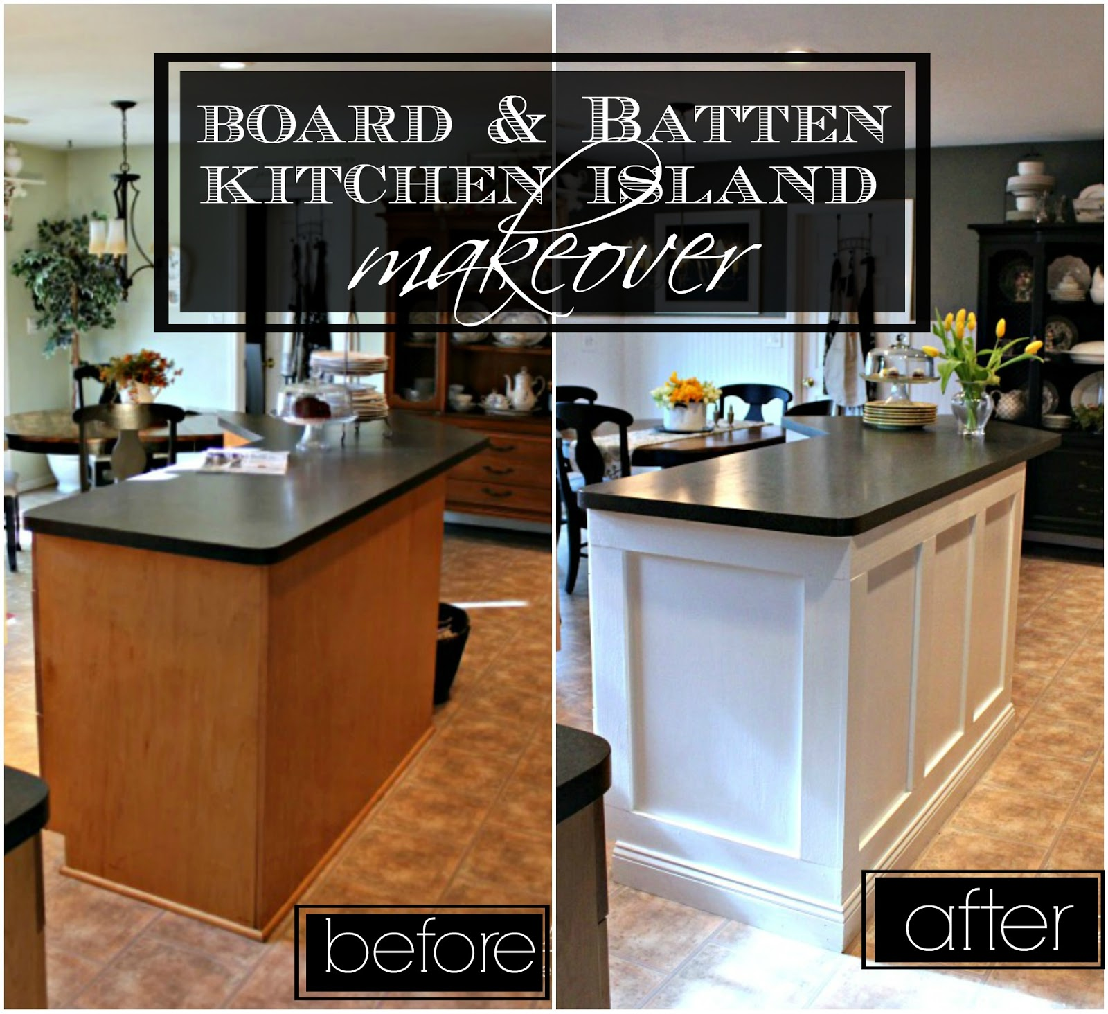 Elegant Board U0026 Batten Kitchen Island Makeover