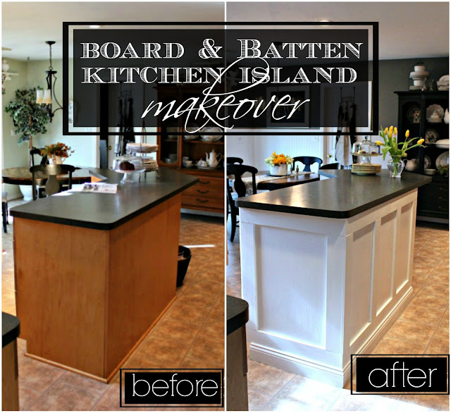 Kitchen Makeovers Contest 2016: 21 Rosemary Lane: Board & Batten Kitchen Island Makeover