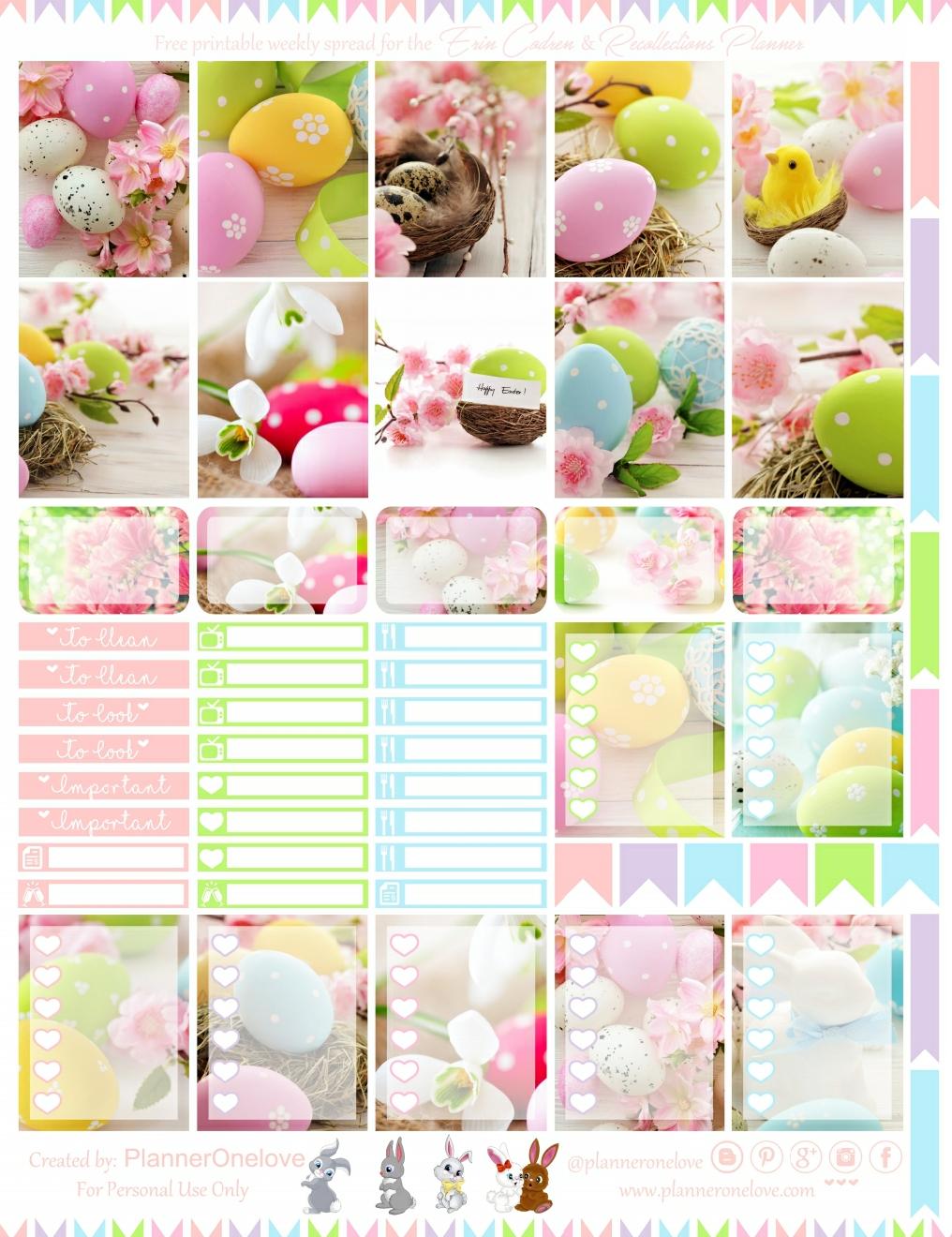 S314- Easter Easter Eggs Happy Easter:Planner Stickers Erin Condren Rabbit