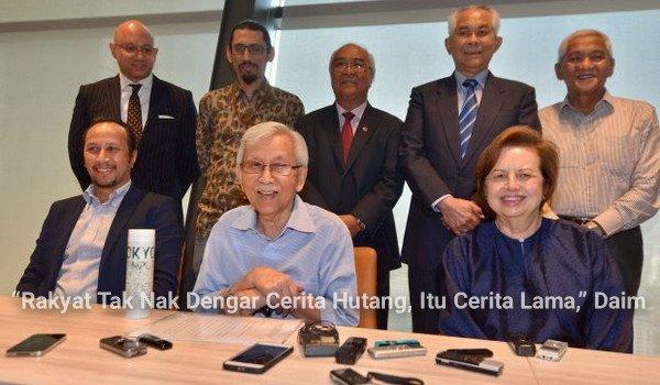 """""""Rakyat Tak Nak Dengar Cerita Hutang, Itu Cerita Lama,"""" Daim"""