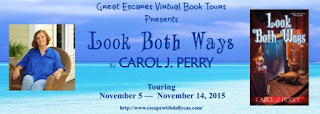 http://www.escapewithdollycas.com/great-escapes-virtual-book-tours/books-currently-on-tour/look-both-ways-by-carol-j-perry/