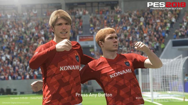 Beckham & Scholes Start Screen PES 2018