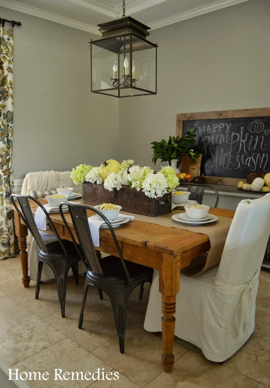 Rustic fall dining room decor