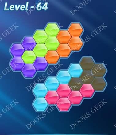 Block! Hexa Puzzle [Intermediate] Level 64 Solution, Cheats, Walkthrough for android, iphone, ipad, ipod
