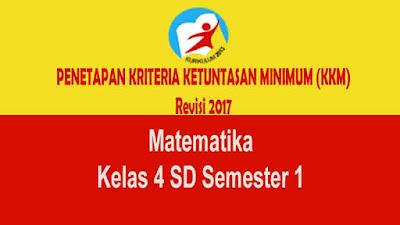 KKM Matematika Kelas 4 SD