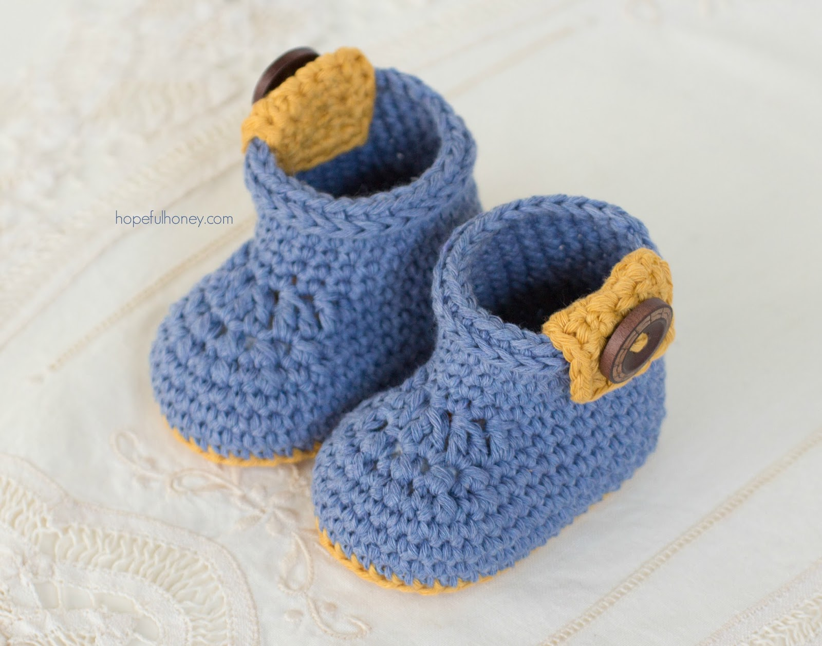 Crochet Baby Ankle Booties Free Pattern : Hopeful Honey Craft, Crochet, Create: Urban Baby Ankle ...