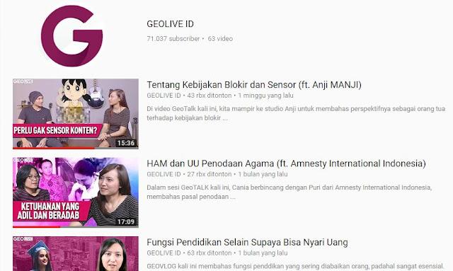 Chanel Youtube Rekomendasi yang Perlu Kita Tonton