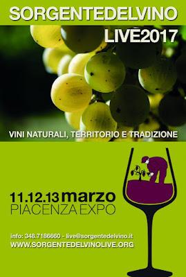 Sorgentedelvino LIVE 11-12-13 marzo Piacenza