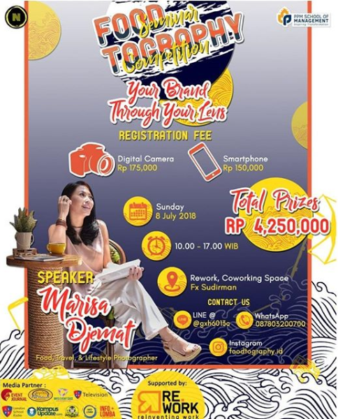 Lomba Dan Seminar Foodtography PPM Management 2018