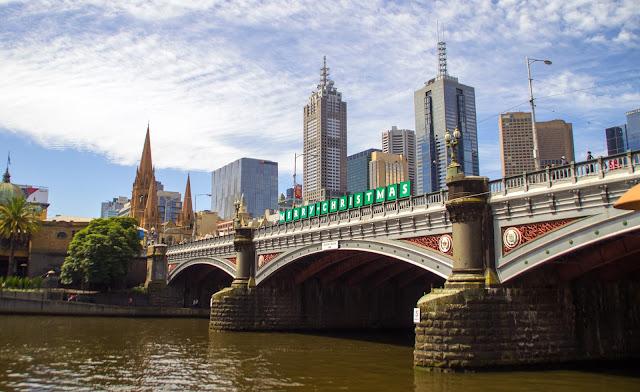 Bridge over Yarra River Melbourne