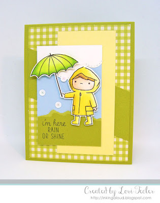 Rain or Shine card-designed by Lori Tecler/Inking Aloud-stamps and dies from Mama Elephant