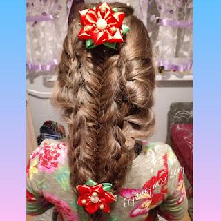Warkocze-kłos-warkocz-francuski-trzy-warkocze-święta-upięcie-na-święta-kwiaty-we-włosach