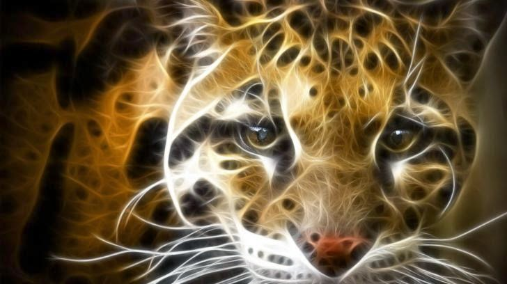 Digital Leopard Art HD Wallpaper