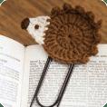 Aplique puercoespin a crochet