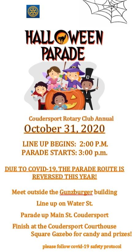 10-31 Coudersport Rotary Club Annual Halloween Parade