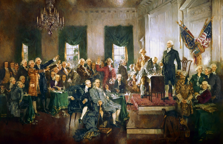 Signing the U.S. Constitution, September 17, 1787