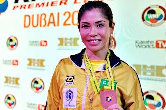 Valeria Kumizaki é bronze na etapa de Dubai da Premier League de Caratê