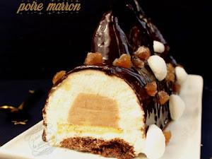 Bûche poire marron et chocolat {dessert de Noël}