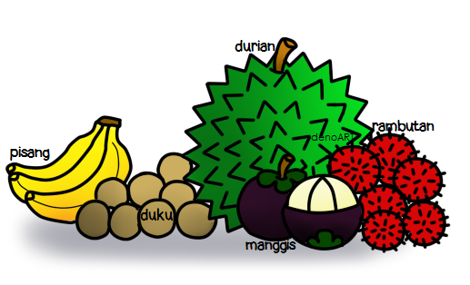wow 30 gambar kartun buah duku