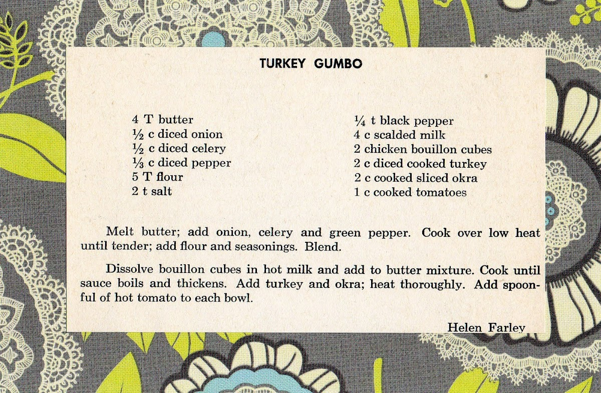 Turkey Gumbo (quick recipe)