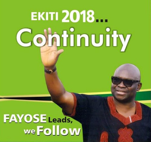 Photos of Billboards of Fayose Without PDP Logo