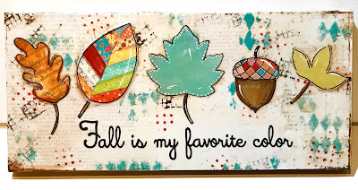 Mixed media leaves, whimsical fall leaves, fall decor