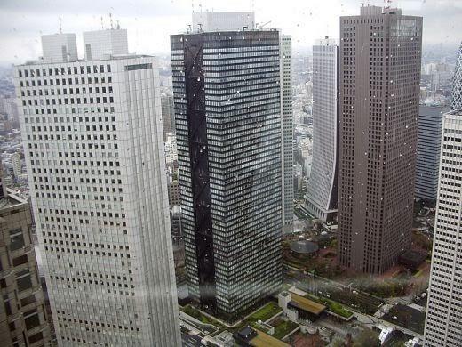 Pemandangan Kota Tokyo Dari Gedung Tinggi