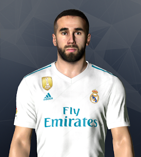 PES 2017 Faces Dani Carvajal by Ben Hossam FaceMaker