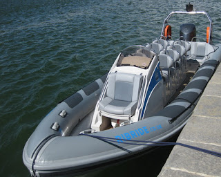 Ribride speedboat, Caernarfon, Wales