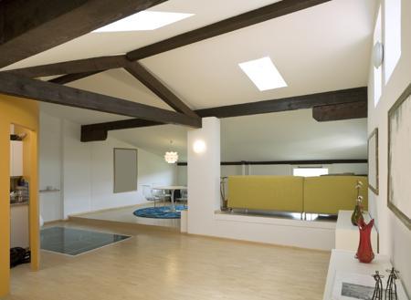 Décoration chambres avec des plafonds voûtés