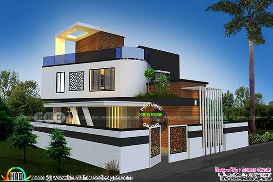 1920 sq-dt Contemporary style Tamilnadu house