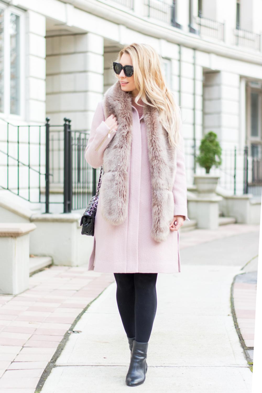 ootd finding the perfect pink coat la petite noob a. Black Bedroom Furniture Sets. Home Design Ideas