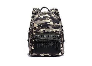 camo studded Harley backpack