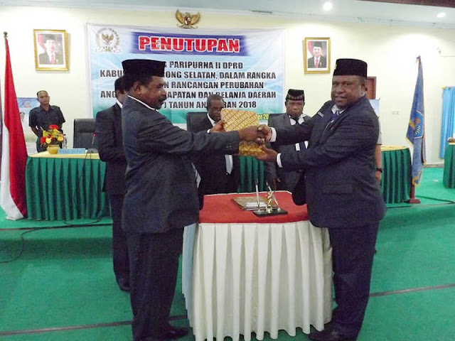 DPRD Sorong Selatan Setujui Raperda Perubahan APBD 2018