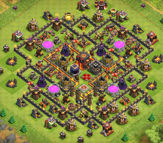 coc th10 base layout