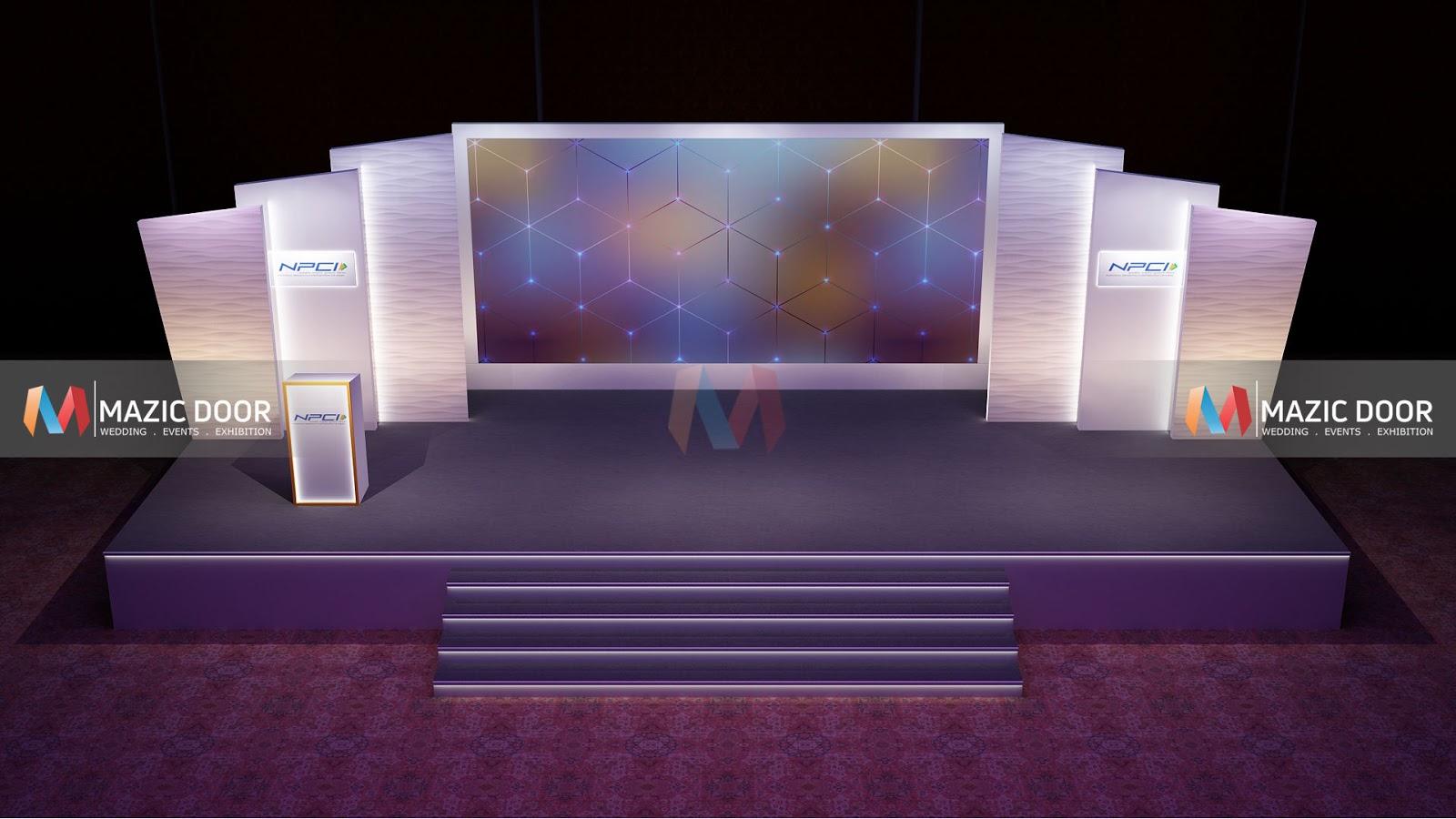 Exhibition Stall Design : Conference stage design mazic door