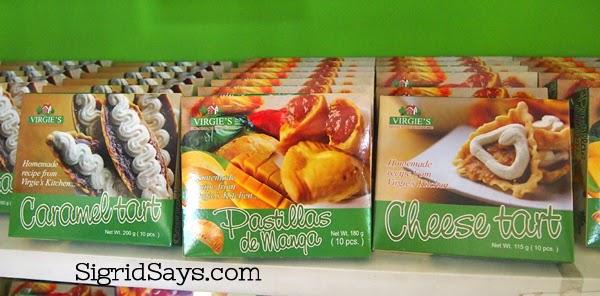 Virgie's Pasalubong boxes - Bacolod pasalubong - Philippines - Bacolod City - mango tarts - cheese tart - caramel  tart - pastillas de manga - gift boxes