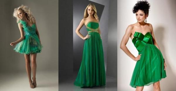 Макияж под зеленое платье для блондинки с