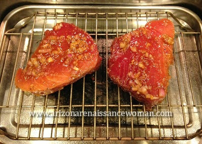Cameron Stovetop Smoker with Tuna Steaks