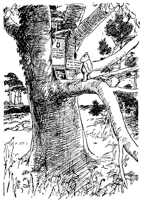 An EH Shepard illustration for Winny the Pooh