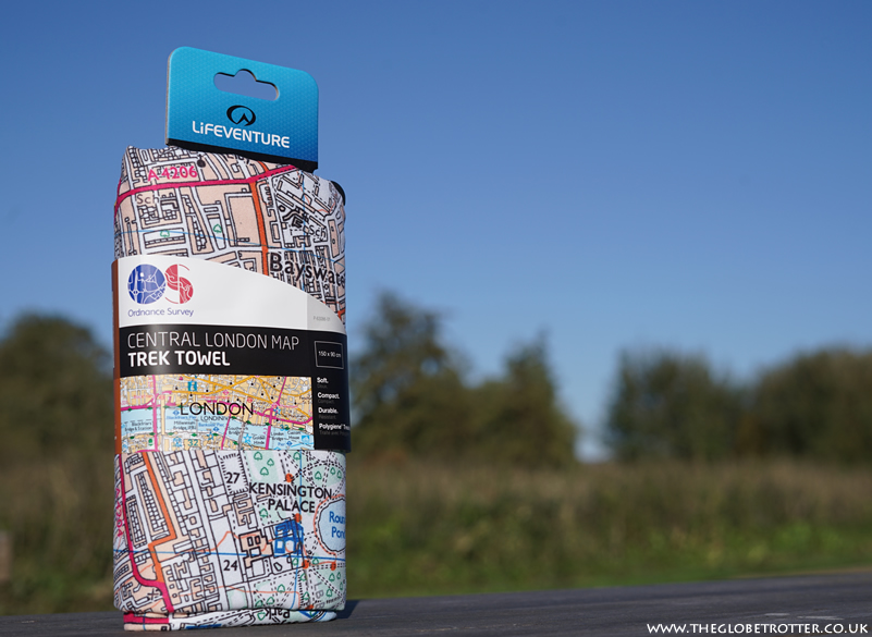 Lifeventure SoftFibre Ordnance Survey Travel Towel