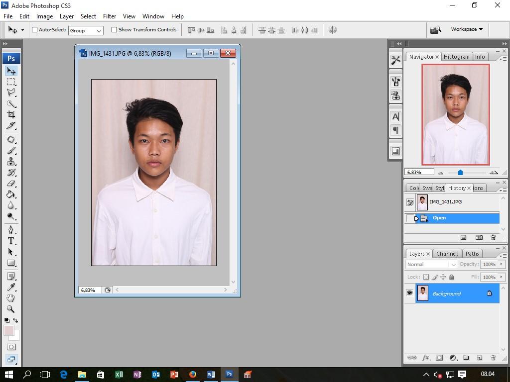 ThryBuss: Cara Mengedit Pas Foto Di Adobe Photoshop CS3 - Tahap ...